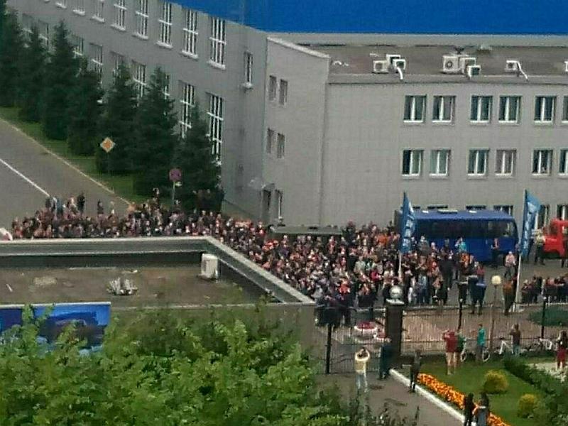 Забастовки на заводах Беларуси // фото в статье: Global Look Press
