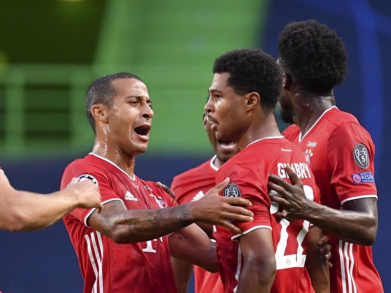 Игроки «Баварии» празднуют гол // Global Look Press