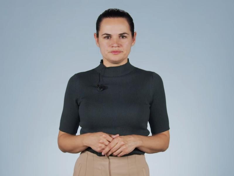 Свтелана Тихановская // Скриншот из Youtube