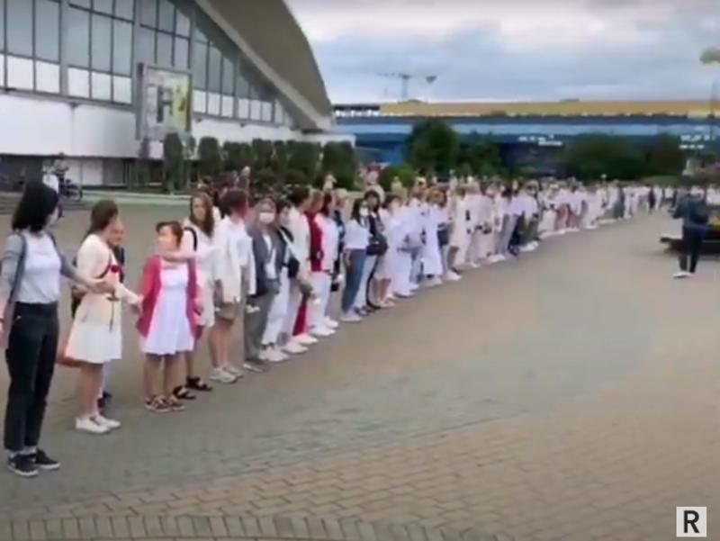 Акция в Минске // Скриншот из Youtube