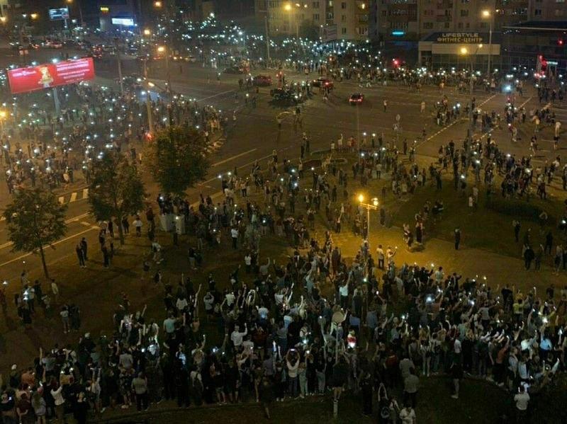 Протетсы в Минске // Фото: Global Look Press