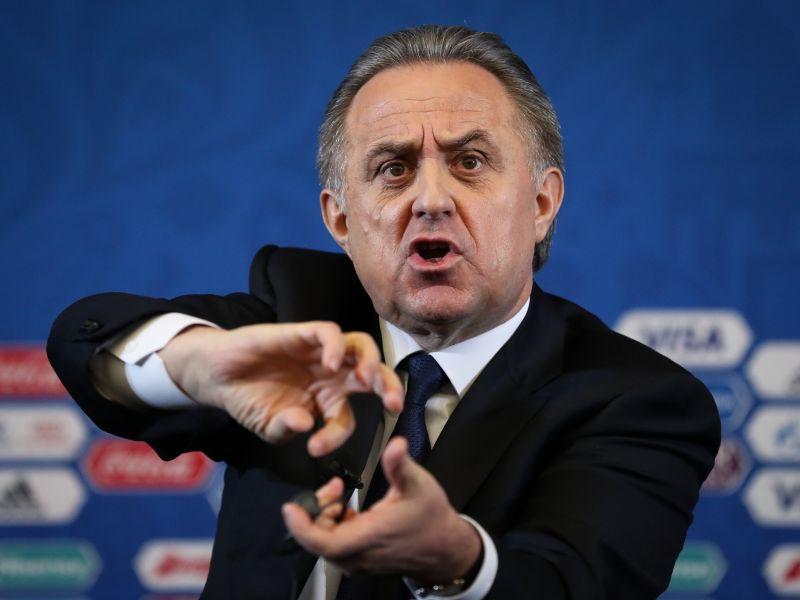 Виталий Мутко на пресс-конференции жеребьевки // фото: Global Look Press