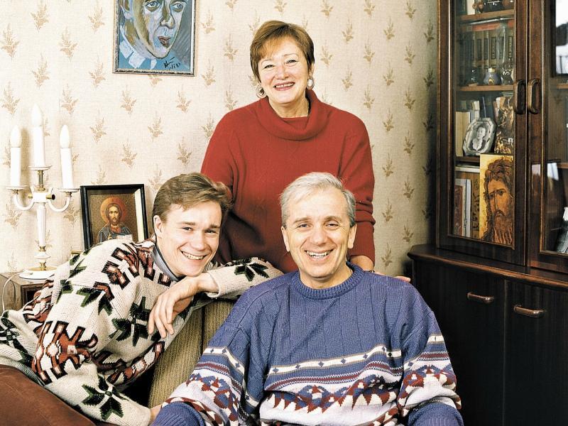 С сыном Сергеем и супругой Татьяной Ивановной