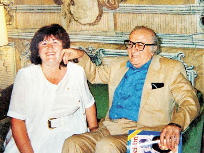 С режиссером Федерико Феллини, Рим, 1990