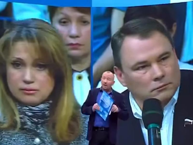Иоланда Чен и Петр Толстой в студии программы Артема Шейнина / стоп-кадр Первого канала
