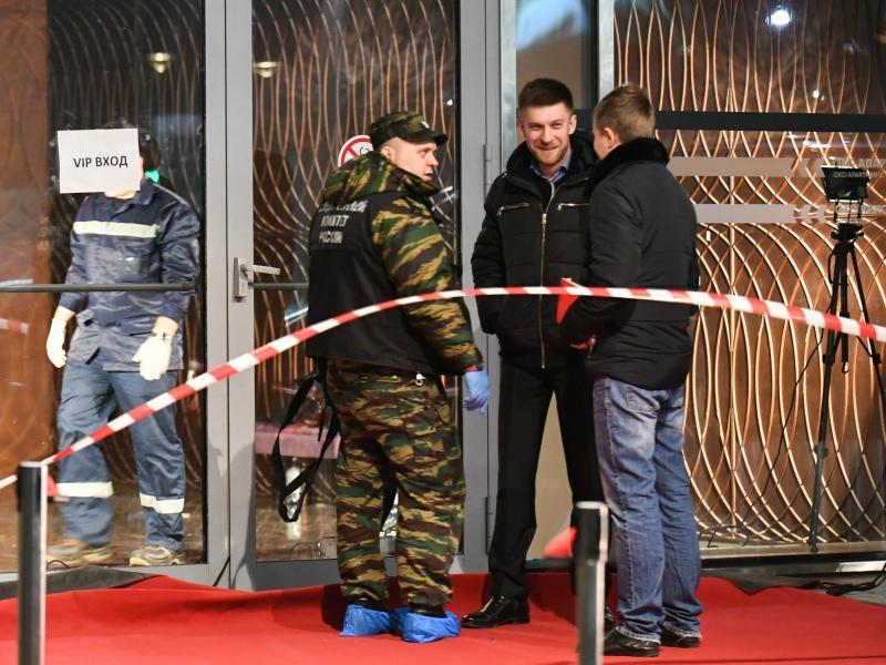 Место пресловутой перестрелки в комплексе «Москва-Сити» // Фото: ТАСС
