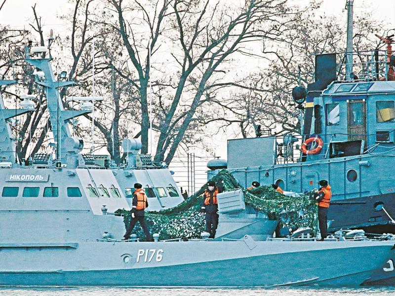Стычка в Керченском проливе // фото с места происшествия