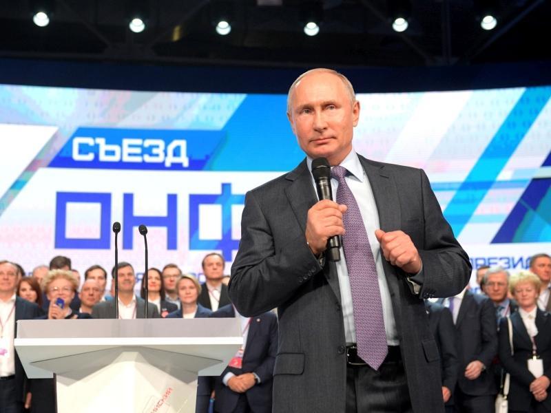 Владимир Путин на съезде ОНФ // фото: Global Look Press