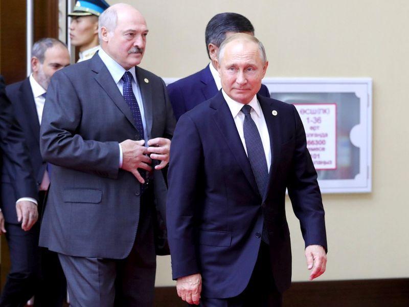 Александр Лукашенко и Владимир Путин // Фото: Global Look Press