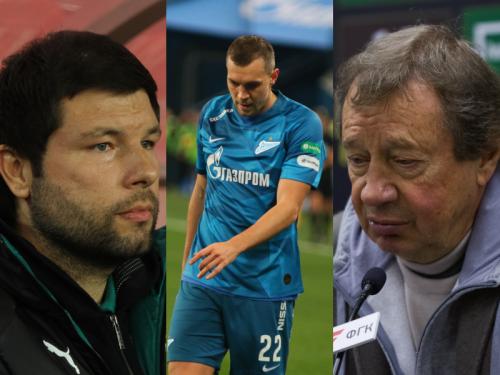Мурад Мусаев, Артем Дзюба и Юрий Семин // Global Look Press
