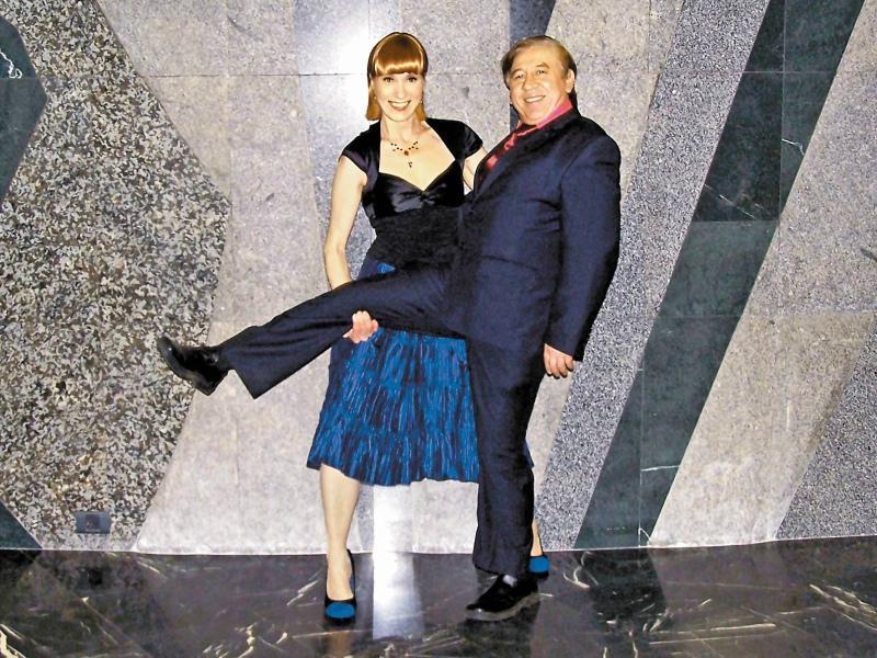 Владимир Пермяков с Ольго Мюнхаузен // Фото: из личного архива