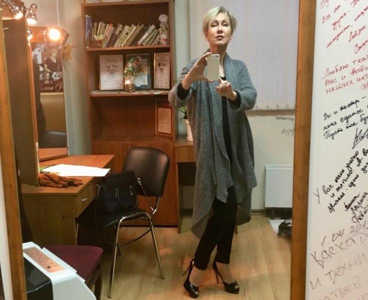 Селфи из гримерки перед концертом в Пензе // фото: Ирина Богушевская