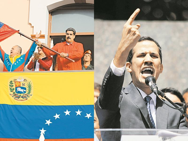 Николас Мадуро (слева) и Хуан Гуайдо (справа) – кто из них легитимен? // фото: Global Look Press