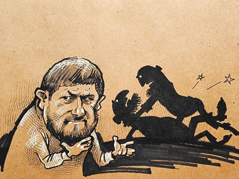«Все будет урегулировано справедливо и в строгом соответствии с законом» // Рисунок: Камиль Бузыкаев