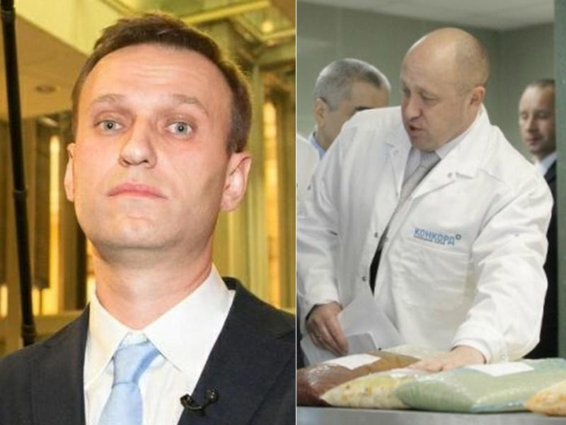 Слева: Алексей Навальный // фото: Global Look Press; справа: Евгений Пригожин // фото: РИА Новости
