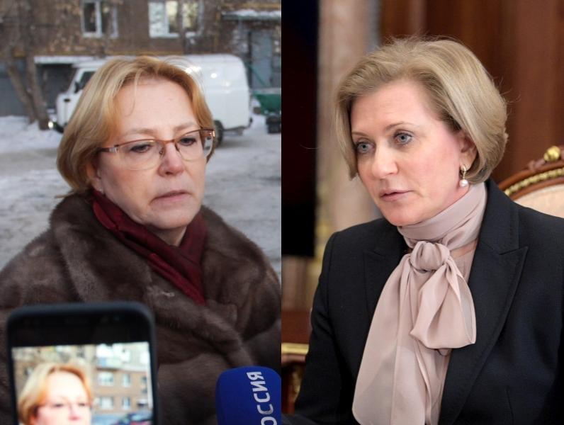 Вероника Скворцова и Анна Попова // фото: слева – Илья Масковец / ТАСС; справа – Kremlin Pool / Global Look Press