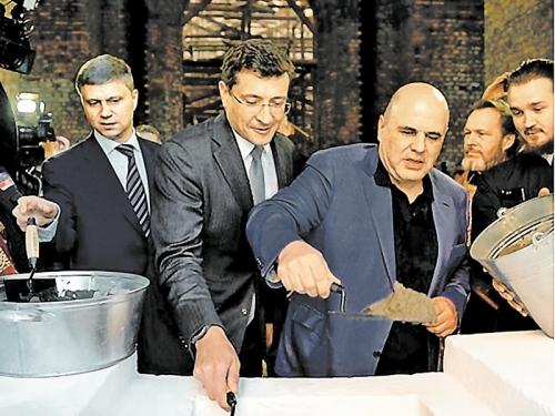 Май 19-го: братья (справа налево) Мишустин, Никитин и Белозеров