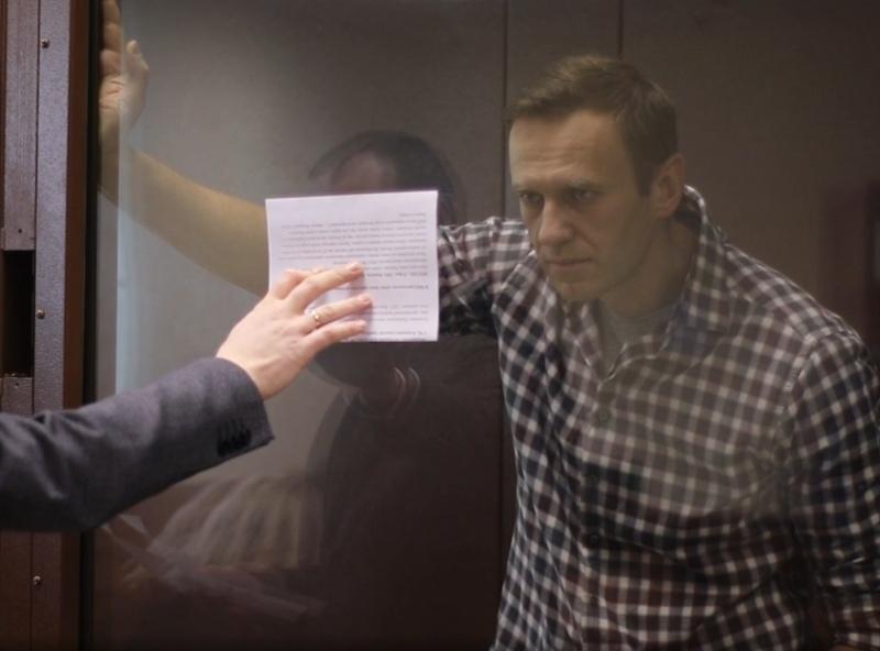 Алексей Навальный // фото: скриншот с видео пресс-службы Мосгорсуда