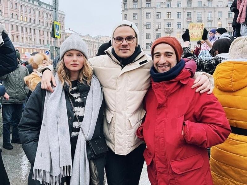 Саша Бортич поддержала и белорусские протесты, и российские // фото в статье: Instagram