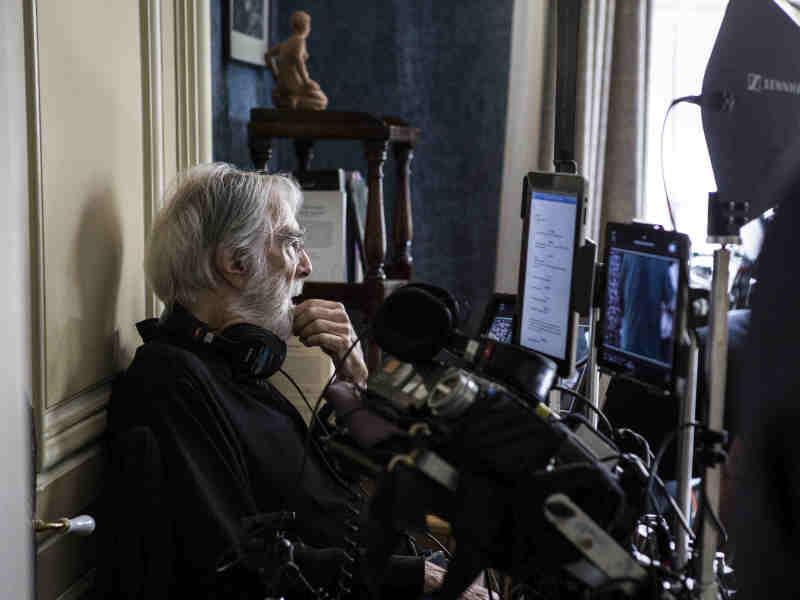 "Михаэль Ханеке на съемочной площадке фильма ""Хэппи-энд"" // Global Look Press"