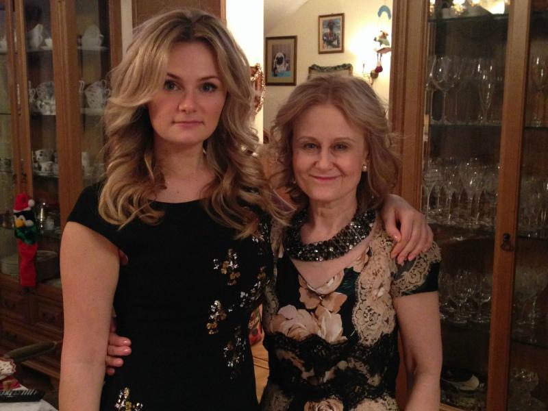 С дочкой Машей