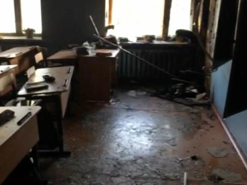 Класс школы в Бурятии после нападения