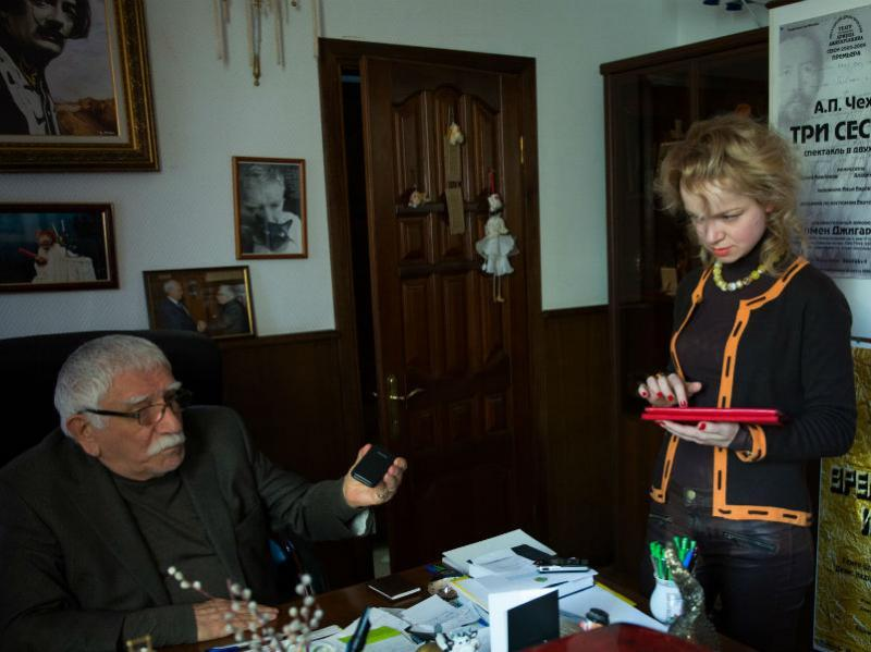 С Арменом Джигарханяном // Фото: Юрий Самолыго