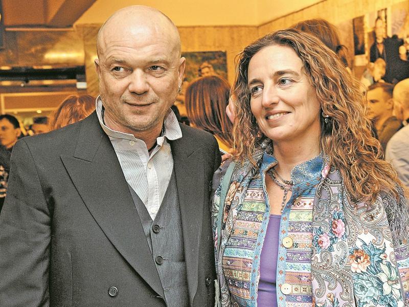 С супругой Дарьей Разумихиной на одной из премьер