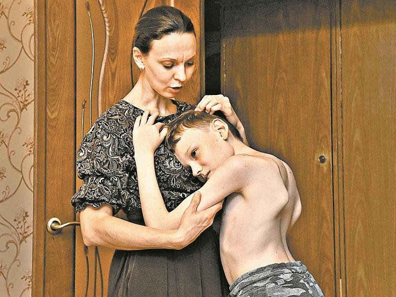 Никита Юкин с мамой // фото: Сергей Величкин