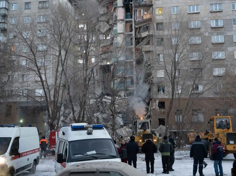 Дом на проспекте Карла Маркса в Магнитогорске 31 декабря // фото: Oleg Elkin / Xinhua / Global Look Press