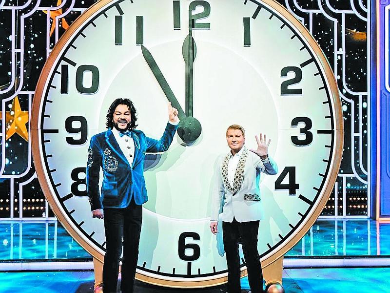 Филипп Киркоров с Николаем Басковым в новогоднем эфире
