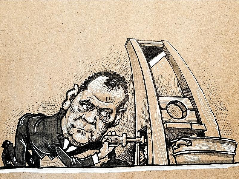 Карикатура на Дмитрия Медведева // рисунок: Камиль Бузыкаев