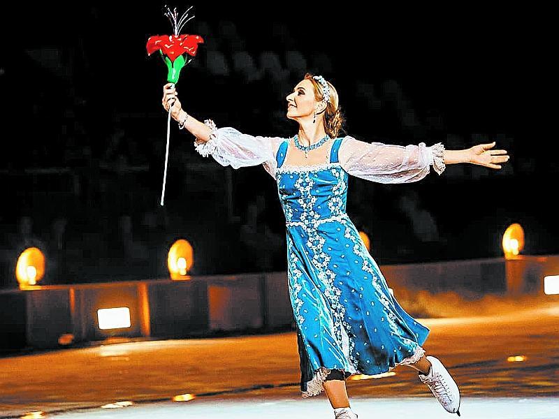 Татьяна Навка на шоу «Аленький цветочек» // фото: соцсети