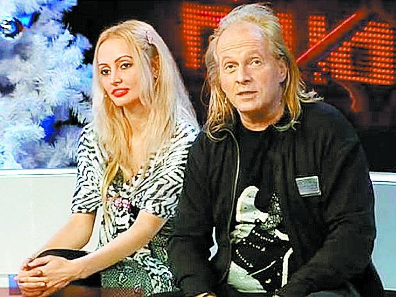 Полина Белова и Крис Кельми в эфире одной из телепередач // стоп-кадр