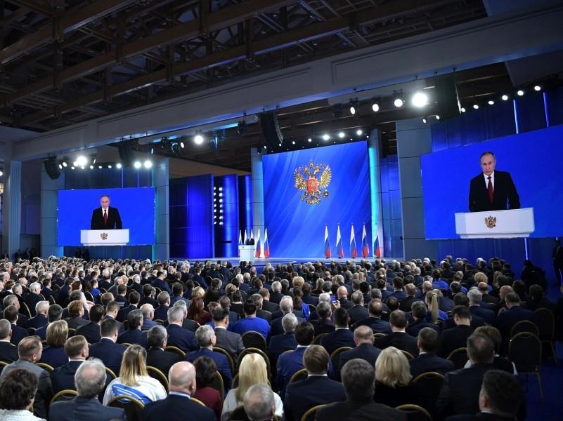 Послание Президента Федеральному Собранию, 15 января 2020 года. Фото: Kremlin Pool / Global Look Press