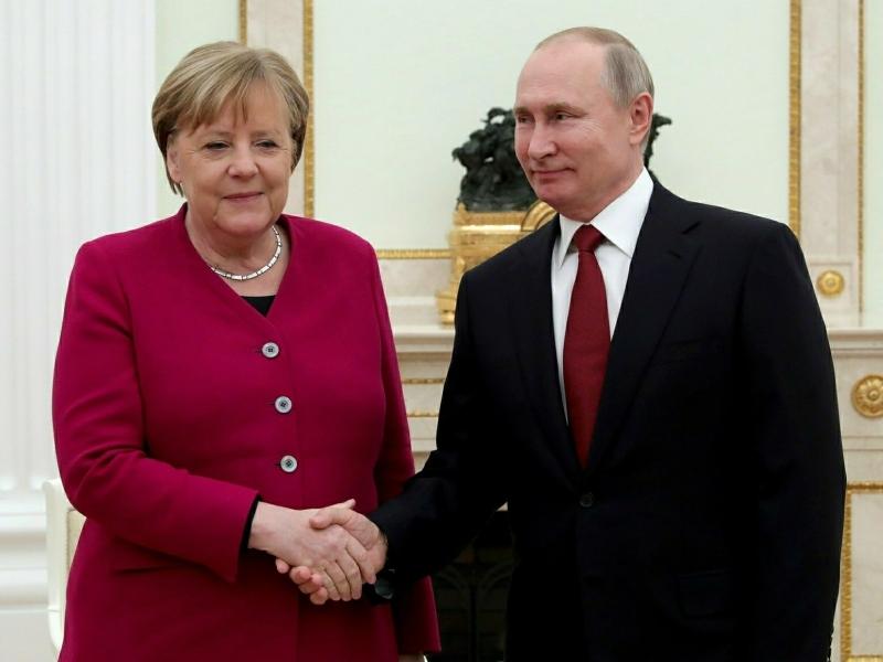 Меркель и Путин // фото: Global Look Press