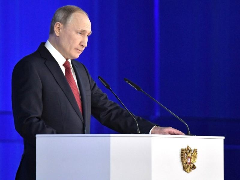 Владимир Путин выступает с обращением к Федеральному Собранию 15 января 2020 года. Фото: Kremlin Pool / Global Look Press