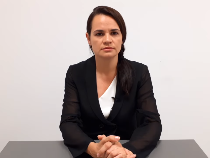 Светлана Тихановская // скриншот с видео