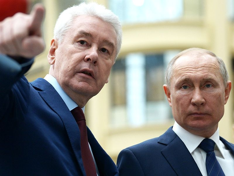 Собянин и Путин // фото в статье: Global Look Press
