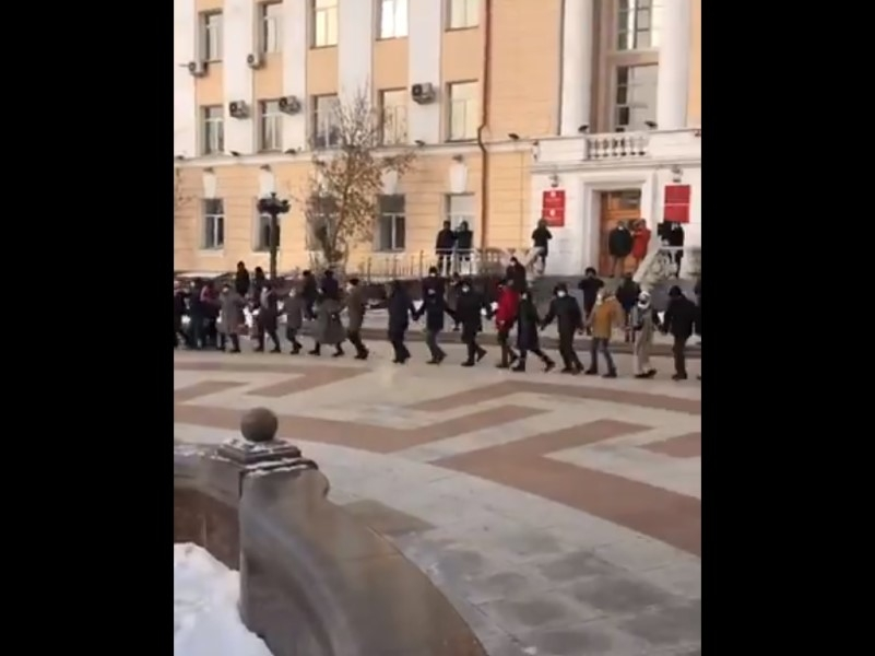 Танец Ёрох в Улан-Удэ // Скриншот с видео