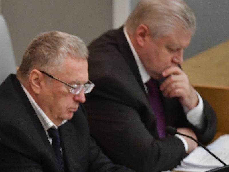 Владимир Жириновский и Сергей Миронов в Госдуме // фото: Global Look Press