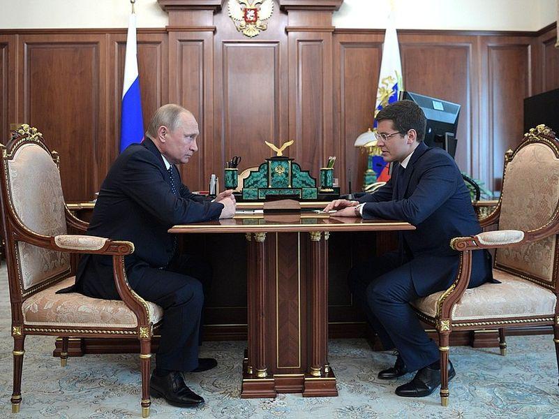 Рабочая встреча Путина с Артюховым после подписания указа о его назначении // фото: kremlin.ru