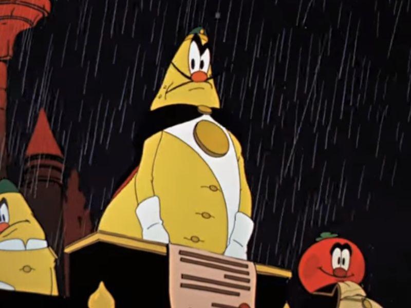 """Налог на дождь"" // м/ф ""Чиполлино"" (Союзмультфильм, 1961 год) / стоп-кадр"