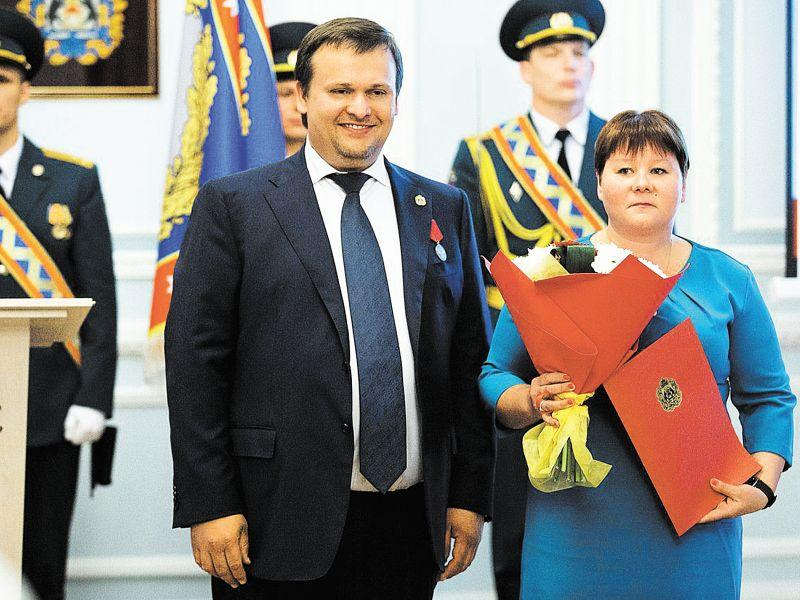 Губернатор Новгородской области Андрей Никитин и Нина Златина