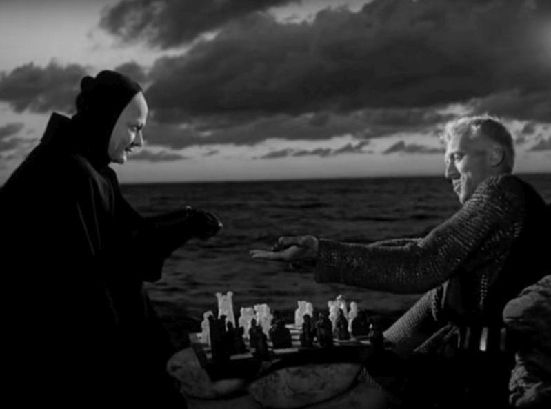 """Кадр из фильма Ингмара Бергмана """"Седьмая печать"""""""