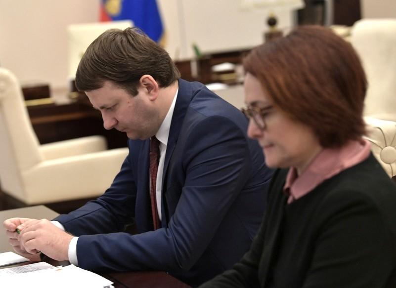 Максим Орешкин и Эльвира Набиуллина // фото: Kremlin Pool / Global Look Press