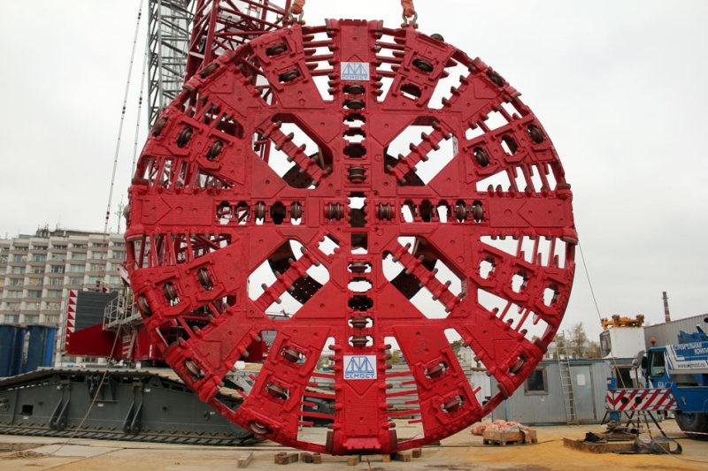 10-метровый щит «Виктория», используемый специалистами «УСК Мост» Руслана Байсарова при прокладке перегонных тоннелей