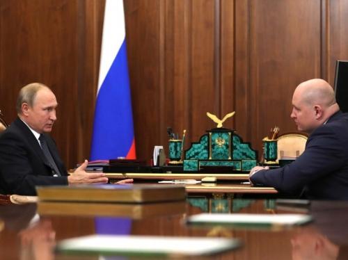 Владимир Путин и Михаил Развожаев // фото: Kremlin Pool / Global Look Press