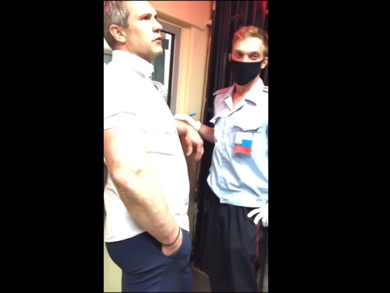Скриншот с видео с моментом инцидента с YouTube-канала Gulagu.net