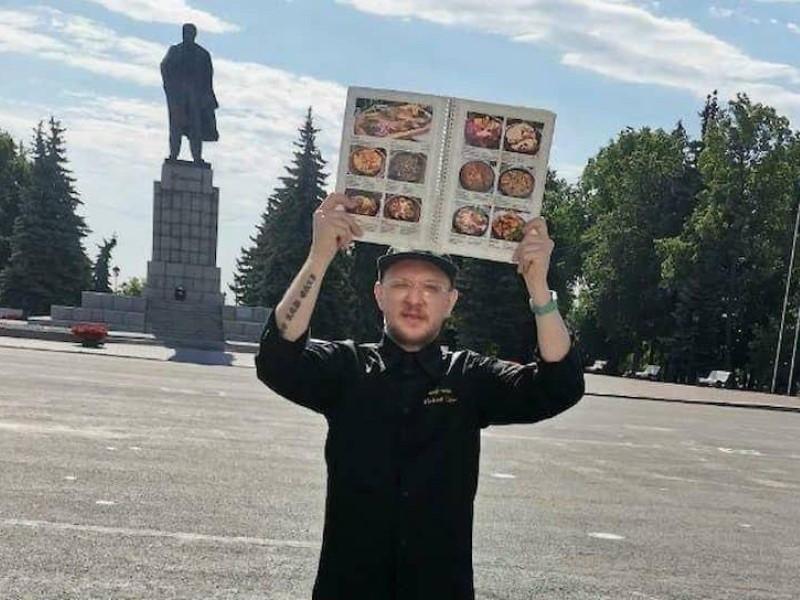 Сергей Павлов на пикете // Фото: соцсети